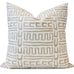 Abenaki Oyster Pillow Cover | Shown in 20x20