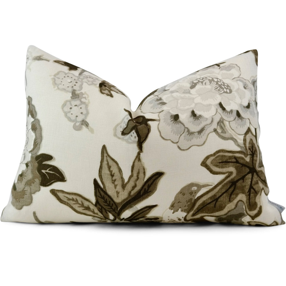Bermuda Blossoms Snow 13x19 Lumbar Pillow Cover (In-Stock) SKU:BBS-1004