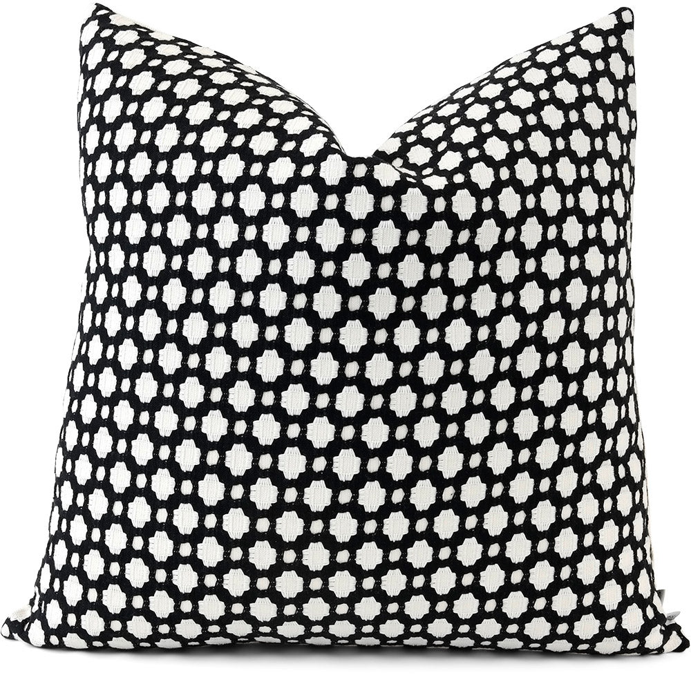 Betwixt Black/White Pillow Cover | Front View | Shown in 20x20