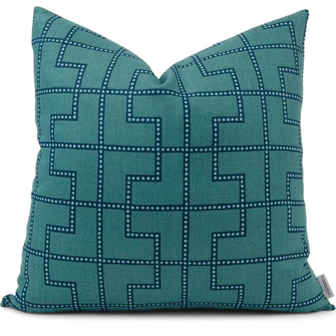 Bleecker Peacock Pillow Cover | Front View | Shown in 20x20