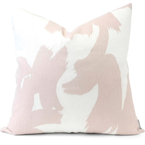 Boldstroke in Black Pillow Cover | Front View | Shown in 20x20