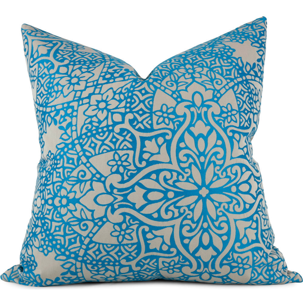 "Black Edition Byzantine Moroccan Pillow Cover - Shown in 20""x20"""