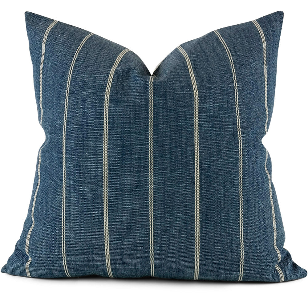 Fritz Indigo Pillow Cover - Front View (Shown in 20x20)