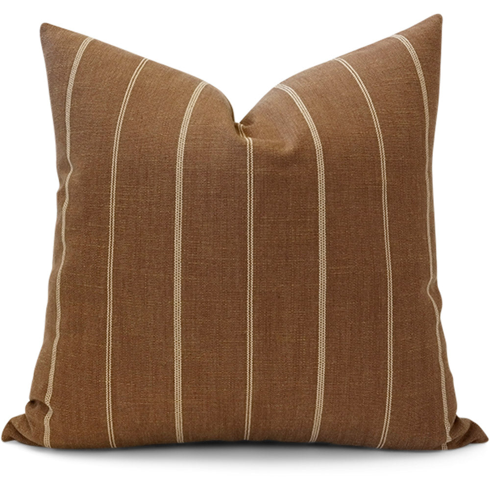 Fritz Tobacco Pillow Cover - Front View (Shown in 20x20)