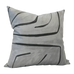 Graffito Graphite Pillow Cover | Angled View (Right) | Shown in 20x20