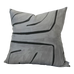 Graffito Graphite Pillow Cover | Angled View (Left) | Shown in 20x20