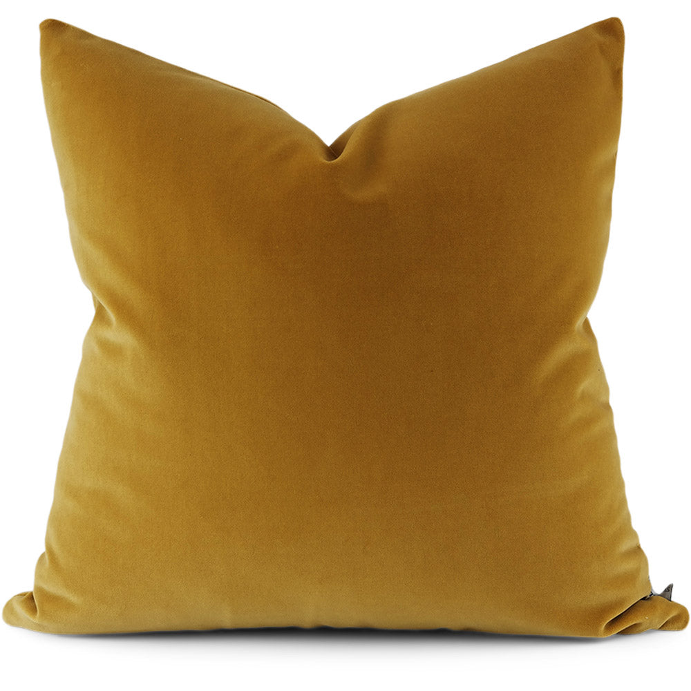 Jackson:  Harvest Tesoro Velvet Pillow Cover | Shown in 20x20)