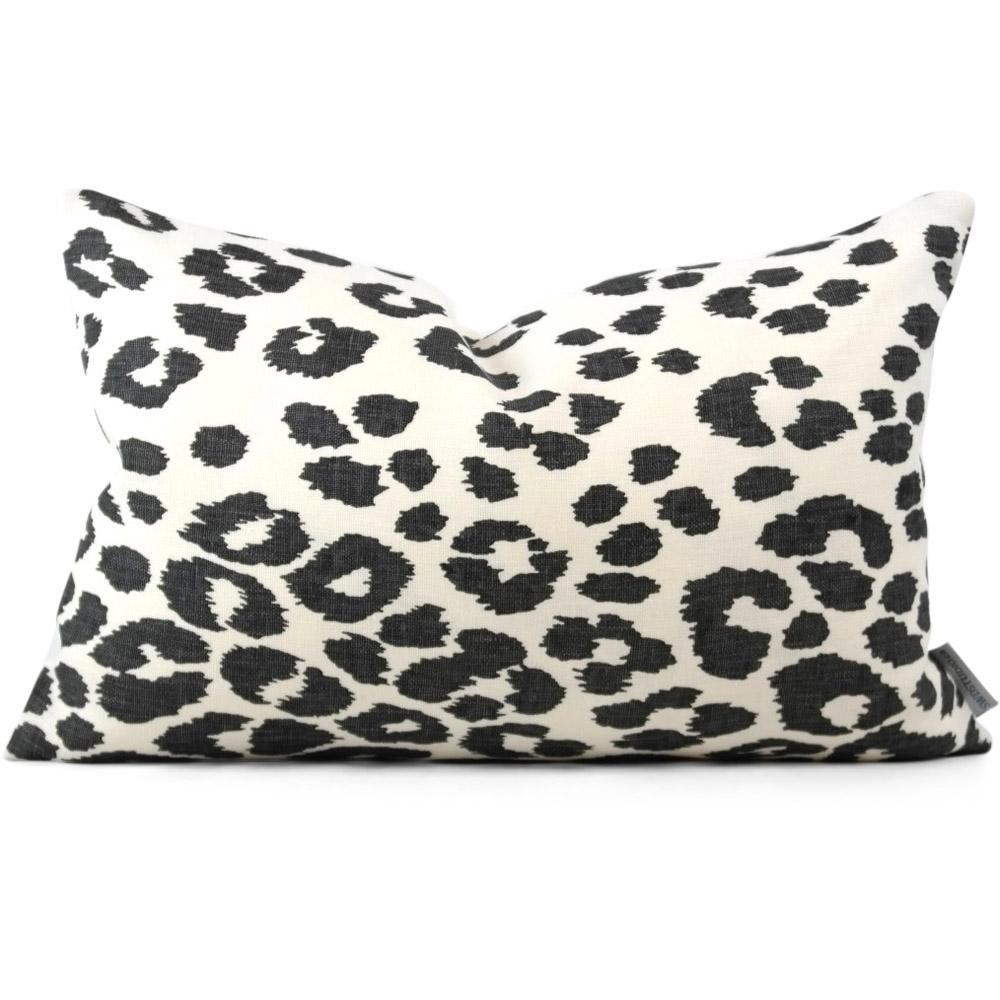 Iconic Leopard Graphite Pillow Cover | In-Stock