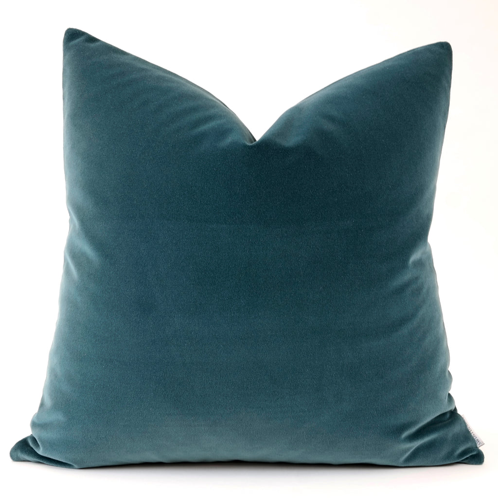 Jackson:  Aegean Tesoro Velvet Pillow Cover | Shown in 20x20)