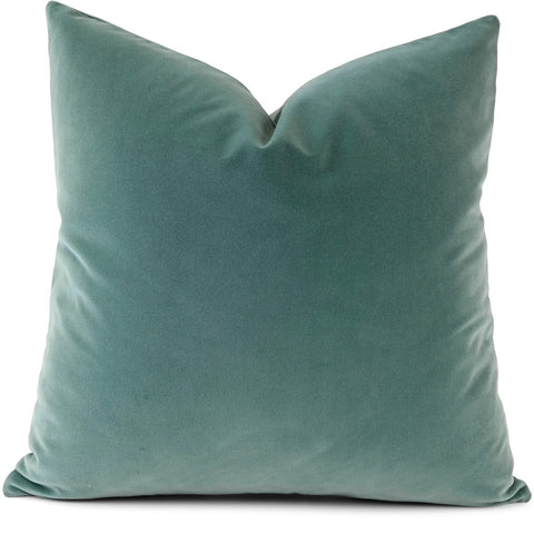 Jackson:  Seaglass Tesoro Velvet Pillow Cover | Shown in 20x20)