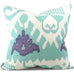 Kazak Aqua Lilac on White