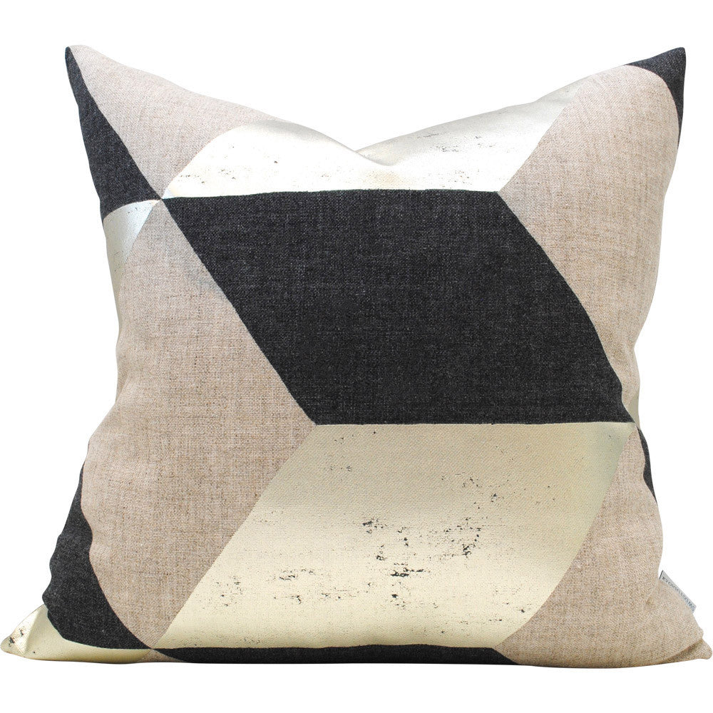 Kubus Argent Pillow Cover | Shown in 20x20