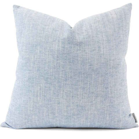 Linder Chambray Pillow Cover | Front View | Shown in 20x20