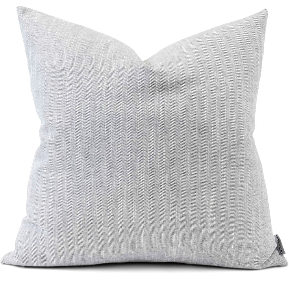 Linder Grey Pillow Cover | Front View | Shown in 20x20