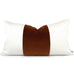 Lindsay Lumbar in Nutmeg Giorgio Pillow Cover | Shown in 13x24