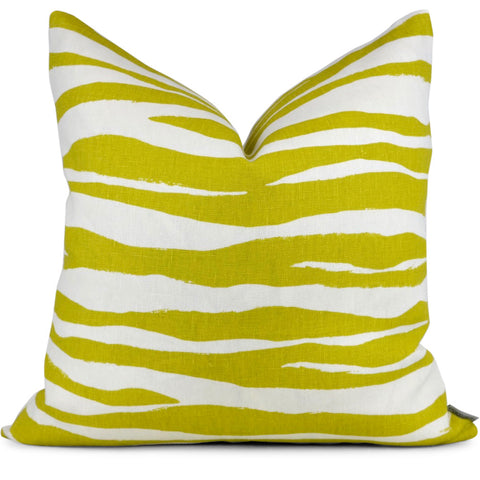 Mona Zebra Chartreuse Shown in 20x20