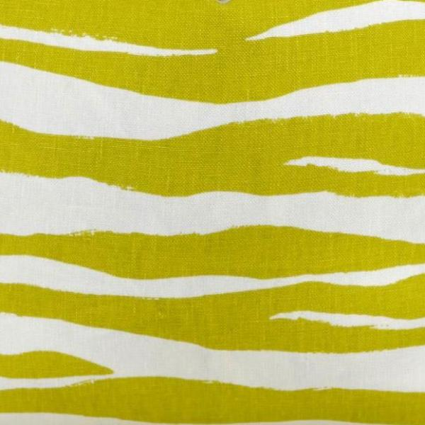 Mona Zebra in Chartreuse Fabric Swatch