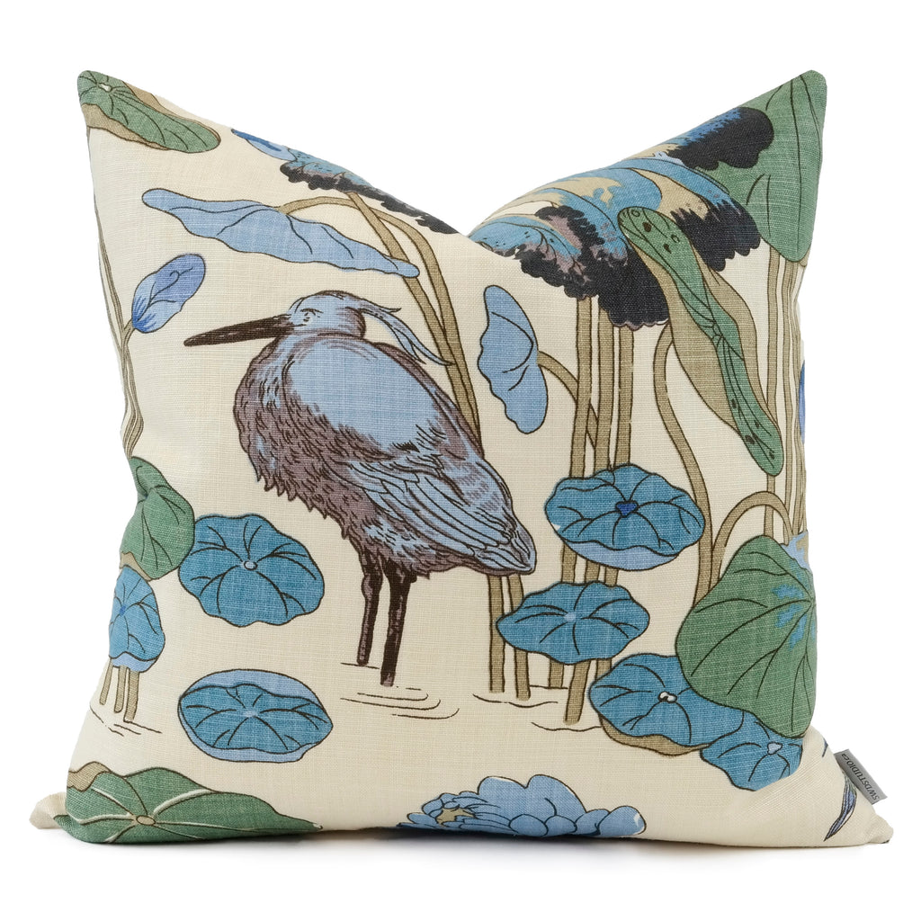 Nympheus Aqua/Teal Pillow Cover | Show in 20x20 | SWD Studio