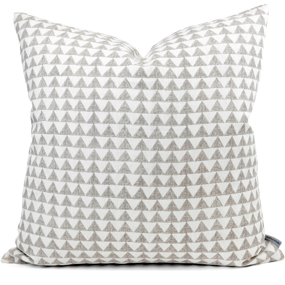 Pyramid Print Cement Pillow Cover - Front View (Shown in 20x20)