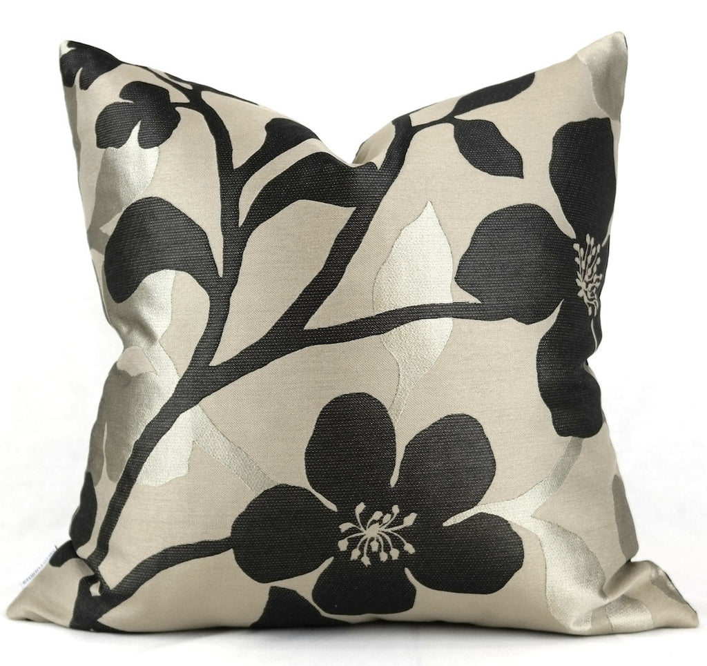 "Pierre Frey Neuilly Metal Pillow Cover - Shown in 20""x20"""