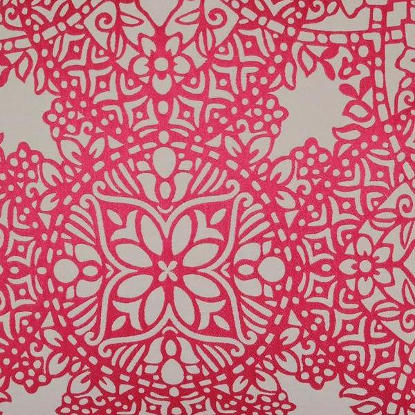 Byzantine in Fuchsia by Black Edition Fabric Swatch