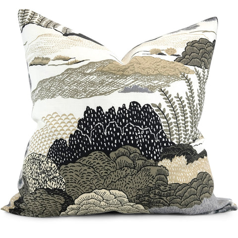 "DAINTREE Grey Pillow Cover - Shown in 20""x20"""