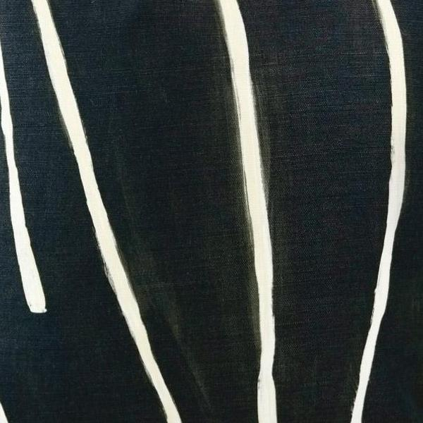 Graffito Black/Linen Fabric Swatch by Groundworks. A Kelly Wearstler Collection.