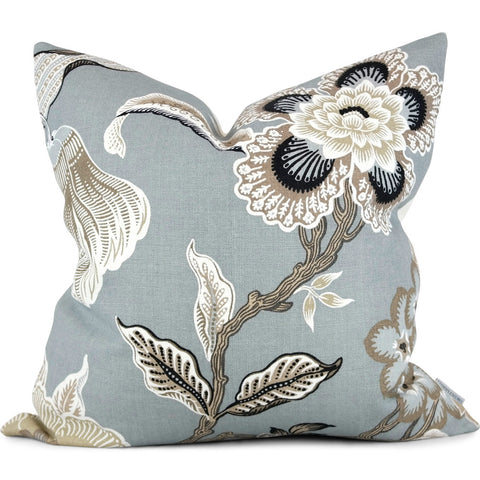 "Hothouse Flowers Mineral Pillow Cover by SWD Studio - Shown in 20""x20"""