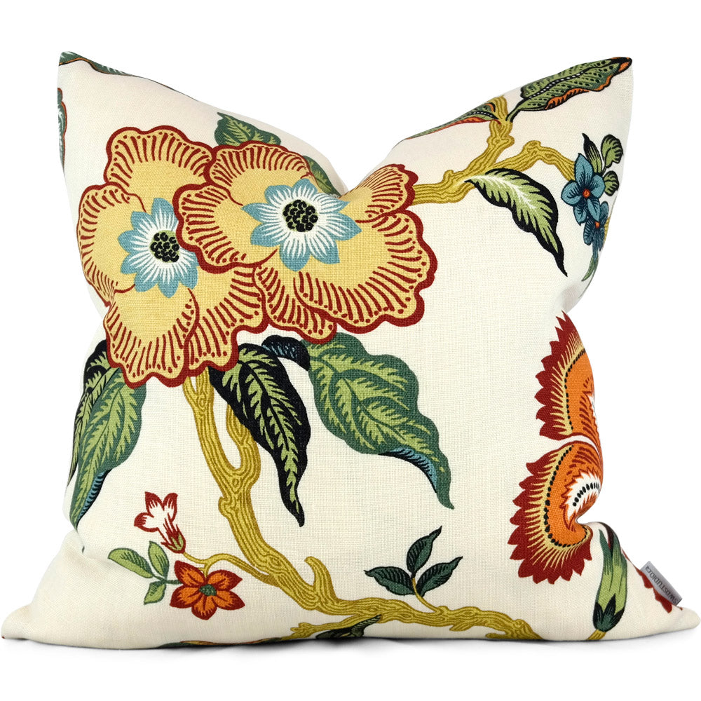 "HOTHOUSE FLOWERS SPARK Pillow Cover - Shown in 20""x20"""
