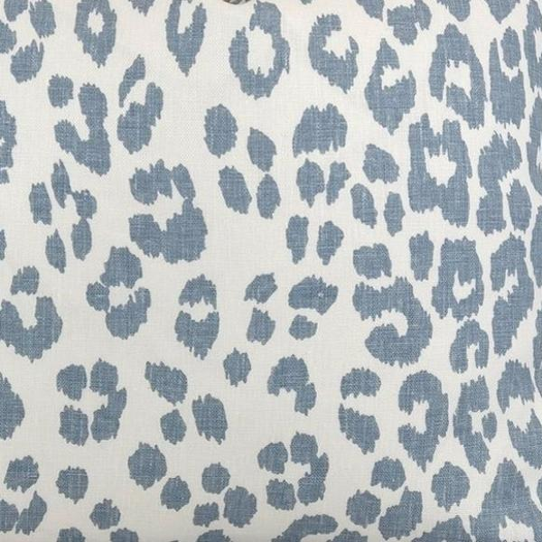 Iconic Leopard in Sky Fabric Swatch