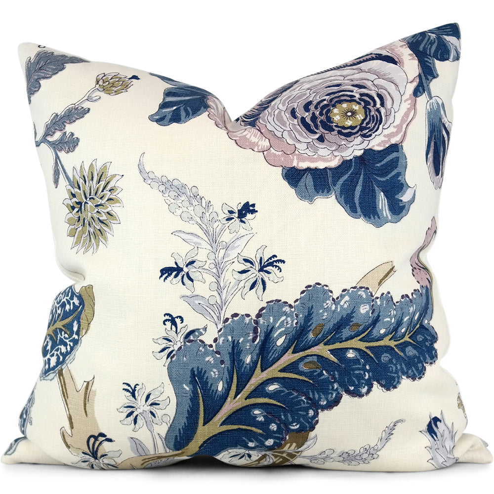 "Indian Arbre Hyacinth Pillow Cover by SWD Studio - Shown in 20""x20"""