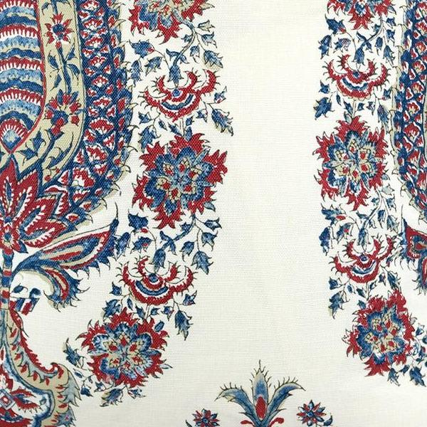 Komal Paisley in Madder Blue Fabric Swatch