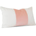 "LINDSAY Lumbar Blush Giorgio Slubby Linen - Angled View (Shown in 11"" x 17"")"