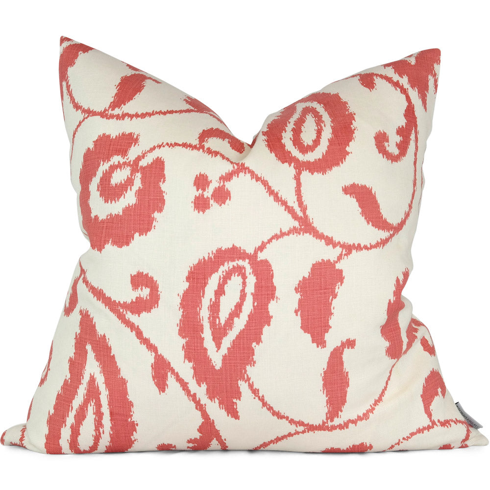 "Malacca Vine Watermelon Pillow Cover - Shown in 20""x20"""