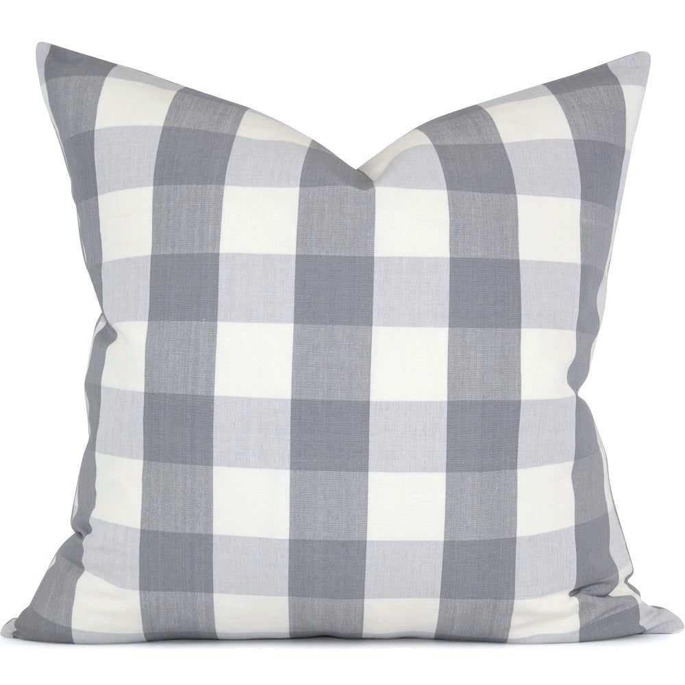 Melbury Buffalo Check in Gris:  Shown in 20x20