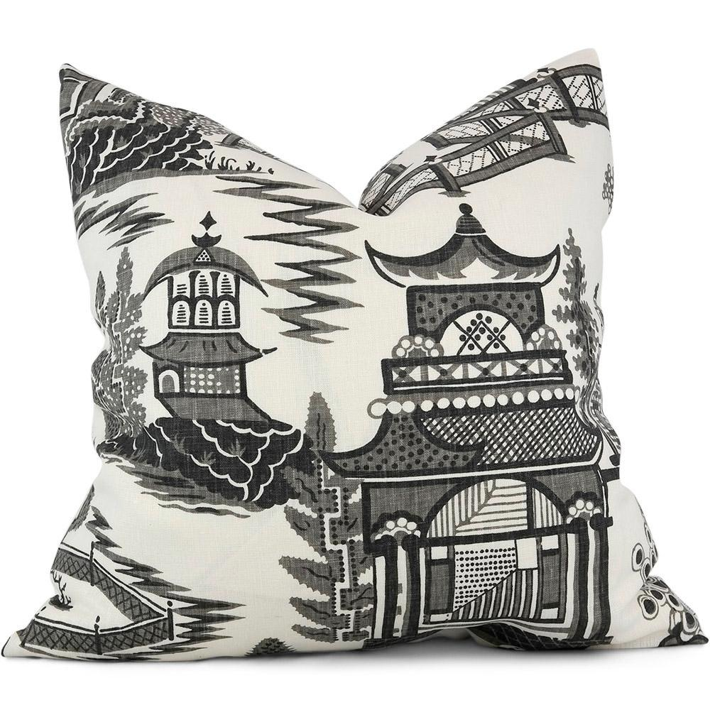 Nanjing in Smoke Pillow Cover - Shown in 20 x 20