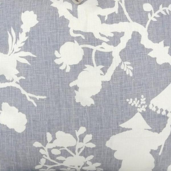 Shantung Silhouette Print in Wisteria Fabric Swatch