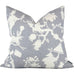 "Shantung Silhouette Print Wisteria Pillow Cover - Shown in 20""x20"""