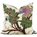 "Sinhala Linen Print Jewel Pillow Cover by SWD Studio - Shown in 20""x20"""