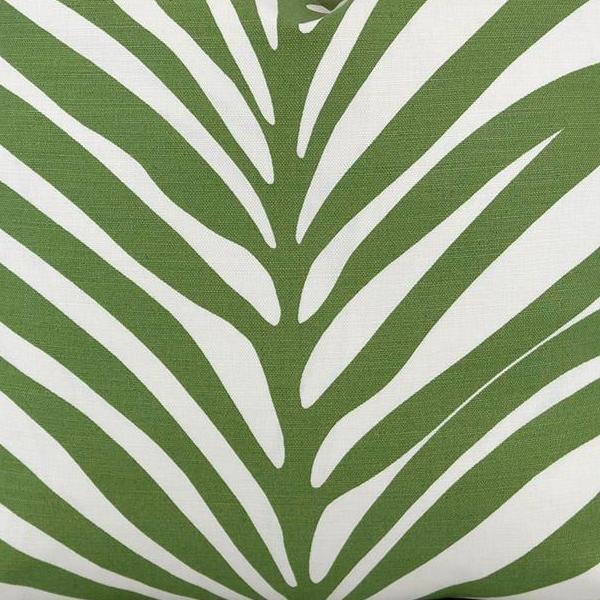 Zebra Palm Linen in Jungle Fabric Swatch