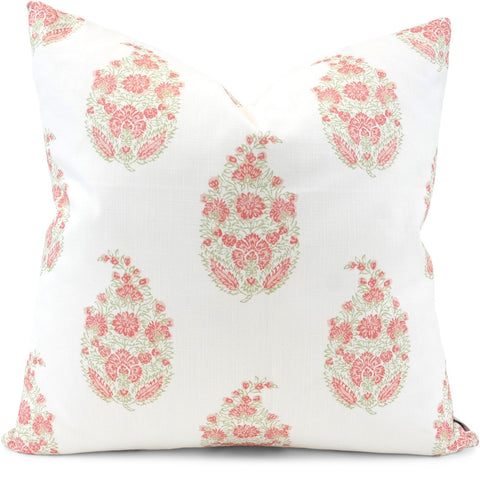 Sandahar Peony Pillow Cover | Front View | Shown in 20x20