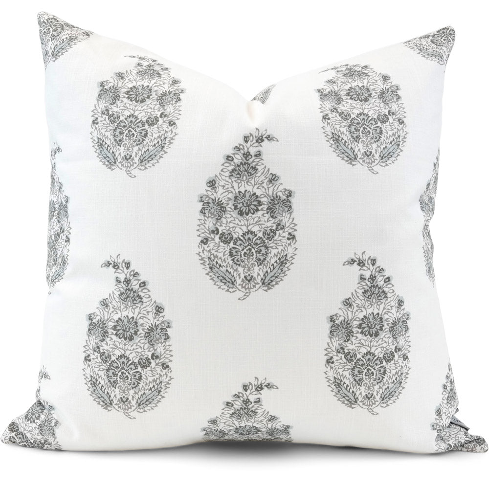 Sandahar Pewter Pillow Cover | Front View | Shown in 20x20