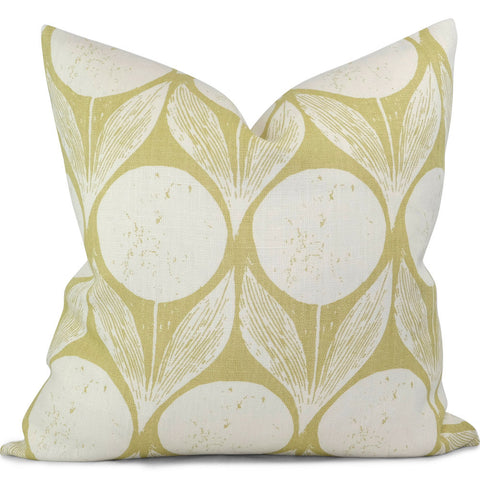 "SUVI in Hay Pillow Cover - Shown in 20""x20"""
