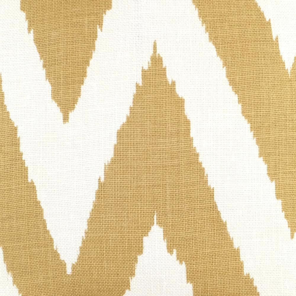 Tashkent in Gold on Oyster Fabric Swatch