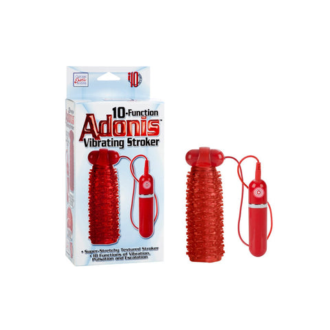 Adonis Vibrating Stroker Red 10 func