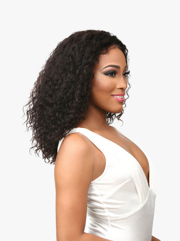 Deep curly 4x4 transparent lace wig