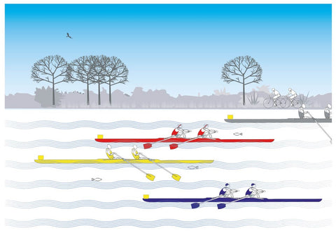 Large Fine Art Print - Double scull race