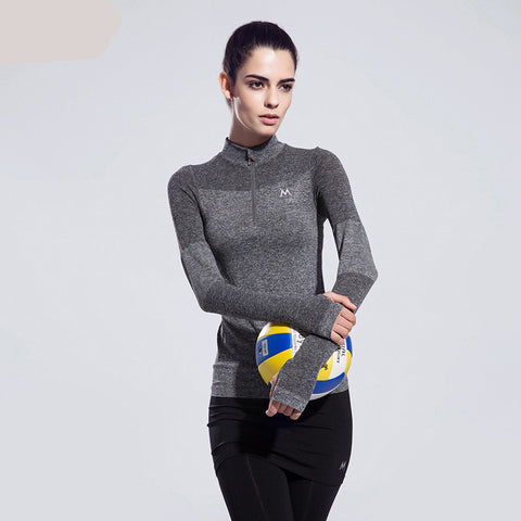 Zippered Active Wear Top