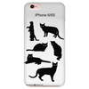 Black Cat Silhouette iPhone Case