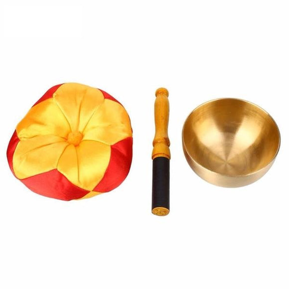 Tibetan Bell Metal Singing Bowl with Cushion